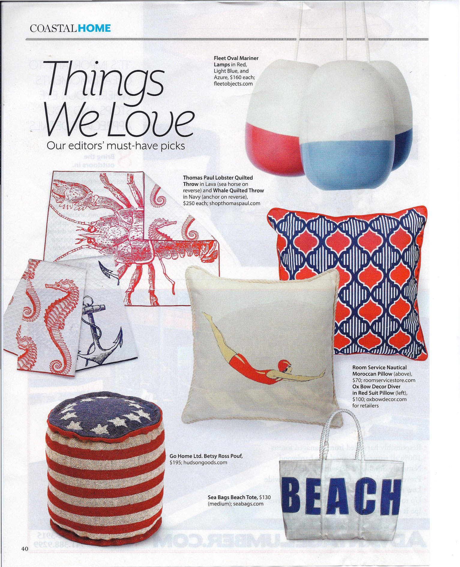 Coastal Living July 2012